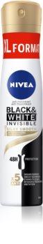 Nivea Black & White Invisible  Silky Smooth spray anti-perspirant
