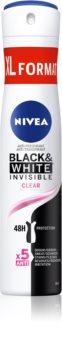 Nivea Black & White Invisible  Clear antiperspirant ve spreji
