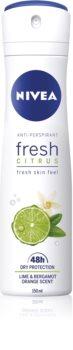 Nivea Fresh Citrus Antiperspirant Spray 48 timer