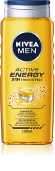 Nivea Active Energy освежаващ душ гел за лице, тяло и коса
