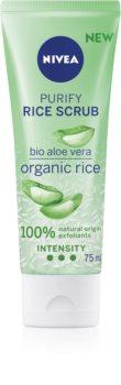 Nivea Rice Scrub Aloe Vera esfoliante detergente viso