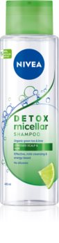 Nivea Pure Detox Micellar освежаващ мицеларен шампоан