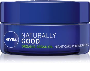 Nivea Naturally Good crema regeneradora de noche con aceite de argán