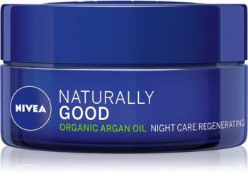Nivea Naturally Good regenerirajuća noćna krema s arganovim uljem