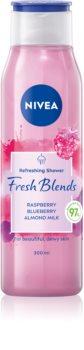 Nivea Fresh Blends Raspberry & Blueberry & Almond Milk gel de ducha refrescante