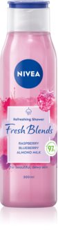Nivea Fresh Blends Raspberry & Blueberry & Almond Milk osvěžující sprchový gel
