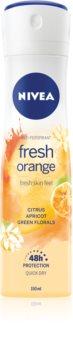 Nivea Fresh Blends Fresh Orange Antiperspirant Spray Med 48 timers effektivitet