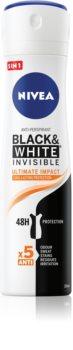 Nivea Invisible Black & White Ultimate Impact spray anti-perspirant 48 de ore