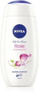 Nivea Rose & Almond Oil jemný sprchový krém