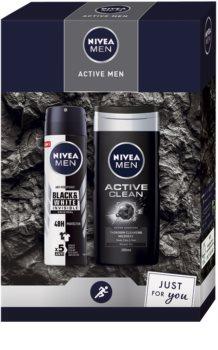 Nivea Men Active Clean подаръчен комплект (за мъже)