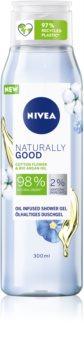 Nivea Naturally Good jemný sprchový gel