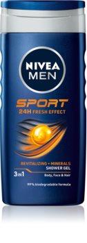 Nivea Men Sport sprchový gel na tvář, tělo a vlasy