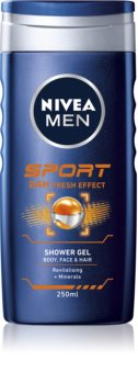 Nivea Men Sport gel de duș pe fata , corp si par