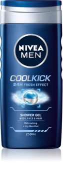 Nivea Men Cool Kick Shower Gel for Face, Body and Hair
