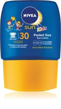 Nivea Sun Kids detské mlieko na opaľovanie do vrecka SPF 30