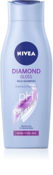 Nivea Diamond Gloss șampon pentru par obosit fara stralucire