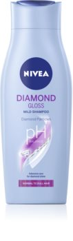 Nivea Diamond Gloss шампоан  за уморена коса без блясък