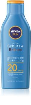 Nivea Sun Protect & Bronze lotiune de protectie solara intensiva SPF 20
