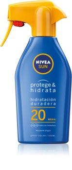 Nivea Sun Protect & Moisture hydratačný sprej na opaľovanie SPF 20