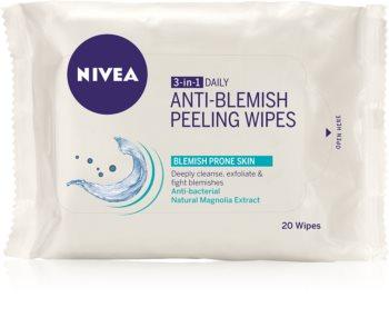 Nivea Visage Pure Effect дълбоко почистващи пилинг кърпички 3 в 1