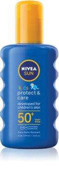Nivea Sun Kids Sødmælk til børn i lommestørrelse SPF 50+