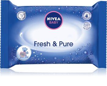 Nivea Baby Fresh & Pure почистващи кърпички за деца