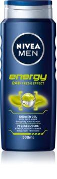 Nivea Men Energy gel de duș pe fata , corp si par