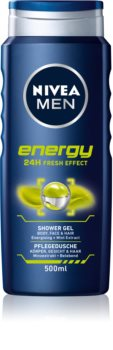 Nivea Men Energy τζελ για ντους για πρόσωπο, σώμα, και μαλλιά