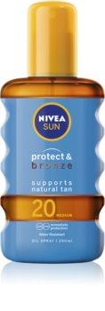 Nivea Sun Protect & Bronze ξηρό αντηλιακό λάδι SPF 20