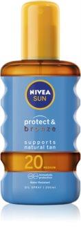 Nivea Sun Protect & Bronze suchy olejek do opalania SPF 20