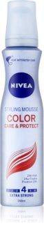 Nivea Color Protect espuma fijadora para mantener el brillo del pelo teñido