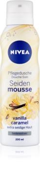 Nivea Silk Mousse Vanilla Caramel ošetrujúca sprchová pena
