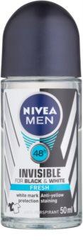 Nivea Men Invisible Black & White antitraspirante roll-on per uomo