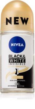 Nivea Invisible Black & White Silky Smooth Antitranspirant Deoroller ohne Alkohol