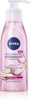 Nivea Cleansing Oil Nourishing Macadamia подхранващо почистващо олио за суха кожа