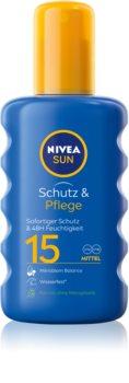 Nivea Sun Protect & Moisture спрей за загар  SPF 15