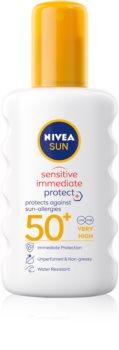 Nivea Sun Protect & Sensitive napvédő spray SPF 50+
