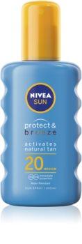 Nivea Sun Protect & Bronze intenzivní sprej na opalování SPF 20