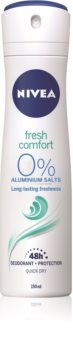 Nivea Fresh Comfort deodorant spray 48 de ore