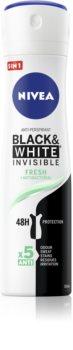 Nivea Invisible Black & White Fresh αντιιδρωτικό κατά των λευκών  και κίτρινων κηλίδων