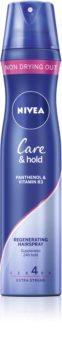 Nivea Care & Hold regenerujący lakier do włosów mocno utrwalający