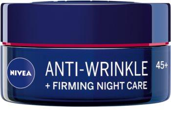 Nivea Anti-Wrinkle Firming стягащ нощен крем против бръчки 45+