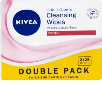 Nivea 3in1 Gentle lingettes nettoyantes douces 3 en 1