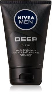 Nivea Men Deep gel de curățare pentru față și barbă