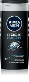 Nivea Men Rock Salt Duschgel für Gesicht, Körper und Haare