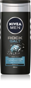 Nivea Men Rock Salt gel de douche visage, corps et cheveux