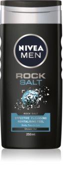 Nivea Men Rock Salt Shower Gel for Face, Body, and Hair