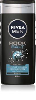 Nivea Men Rock Salt Suihkugeeli Kasvoille, Vartalolle ja Hiuksille