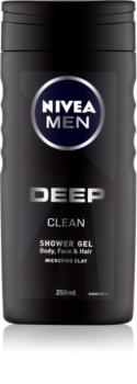 Nivea Men Deep tusfürdő gél  arcra, testre és hajra