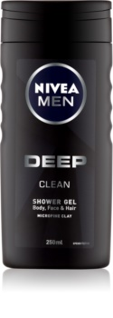 Nivea Men Deep τζελ για ντους για πρόσωπο, σώμα και μαλλιά